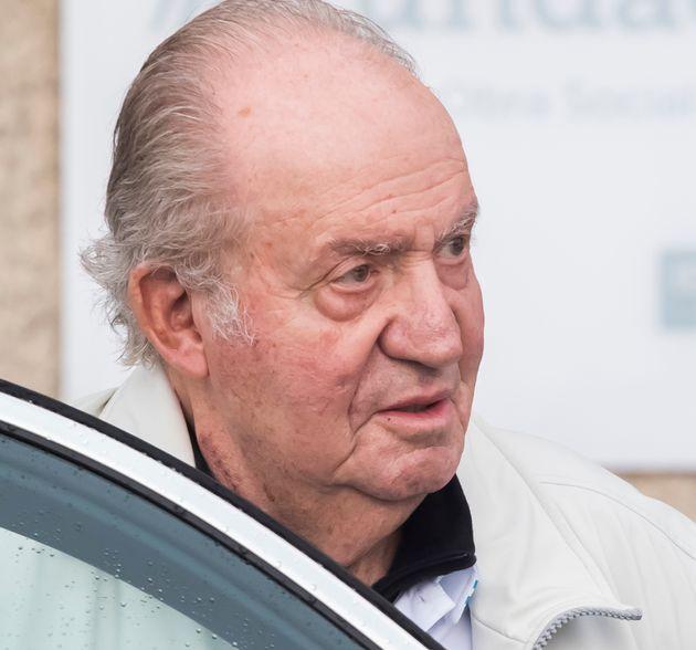 Juan Carlos I, en Sanxenxo, el 13 de julio de