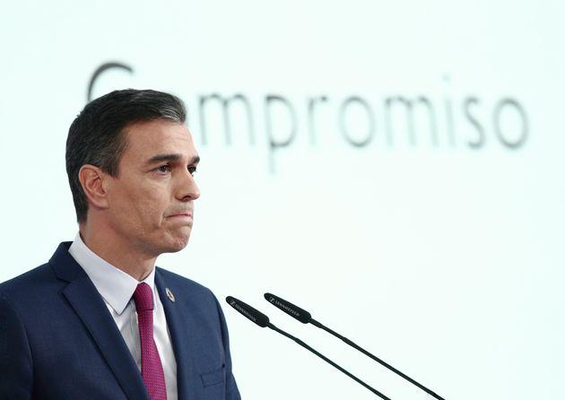 El presidente del Gobierno, Pedro Sánchez, durante un acto el 28 de diciembre de