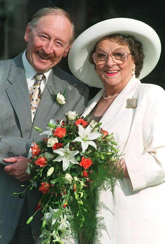Frank Mills pictured with former Coronation Street co-star, the late Betty