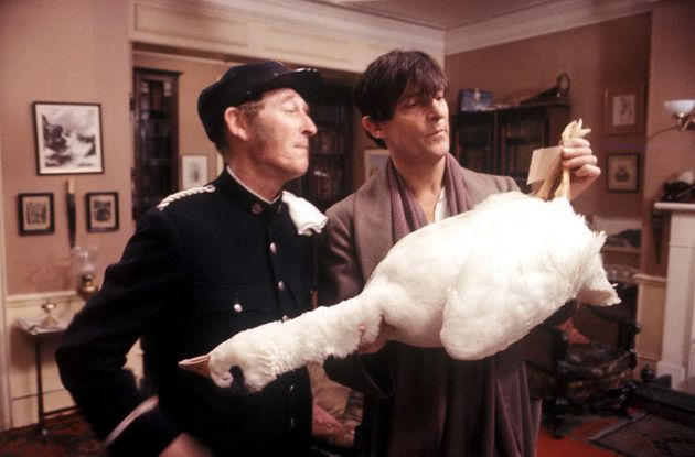 Frank (left) in 1984's Adventures Of Sherlock