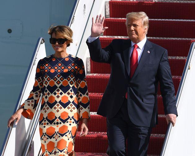 Donald et Melania Trump, ici à West Palm Beach en Floride aux États-Unis, le 20 janvier