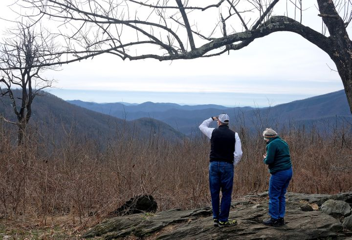 Gregory Buppert, a Southern Environmental Law Center attorney, and Lynn Cameron, a Virginia Wilderness Committee board member