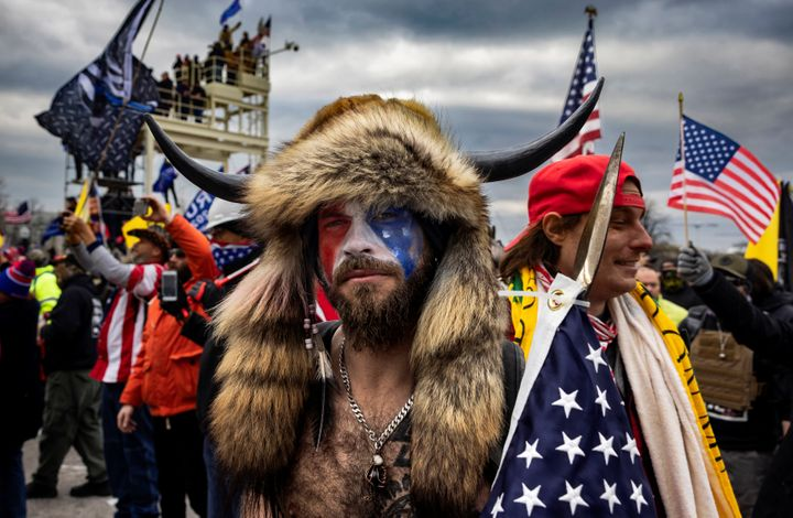 Jacob Anthony Chansley, known as the QAnon Shaman, wore one of the most recognizable costumes at the siege of the Capital -- furs, a horned cap and U.S. flag face paint. He faces several charges stemming from the riot and remains in jail.