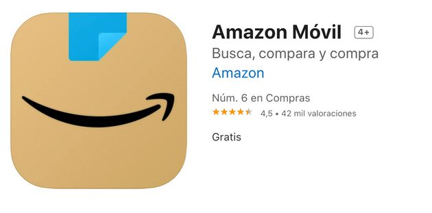 Imagen del logo de Amazon en la App