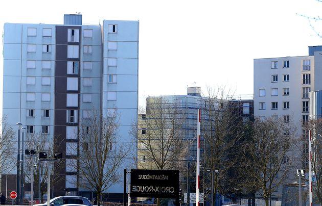 Des immeubles dans le quartier de la Croix-Rouge, à Reims, le 1er mars