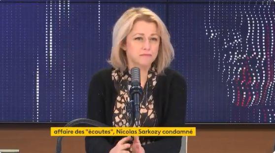 Barbara Pompili, ministre de la transition écologique, le mardi 2 mars 2021, au micro de
