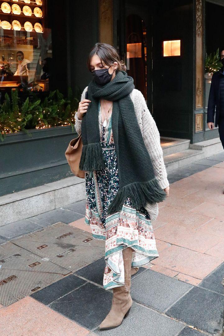Sara Carbonero por las calles de Madrid