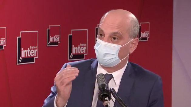 Le ministre de l'Education nationale Jean-Michel Blanquer au micro de France Inter le 2 mars