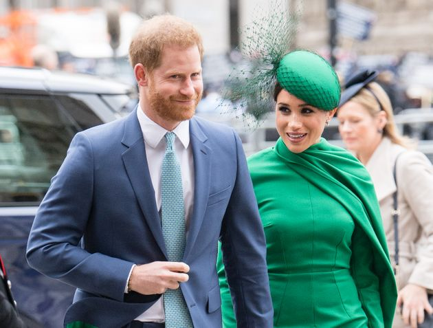 Prince Harry and Meghan Markle pictured last