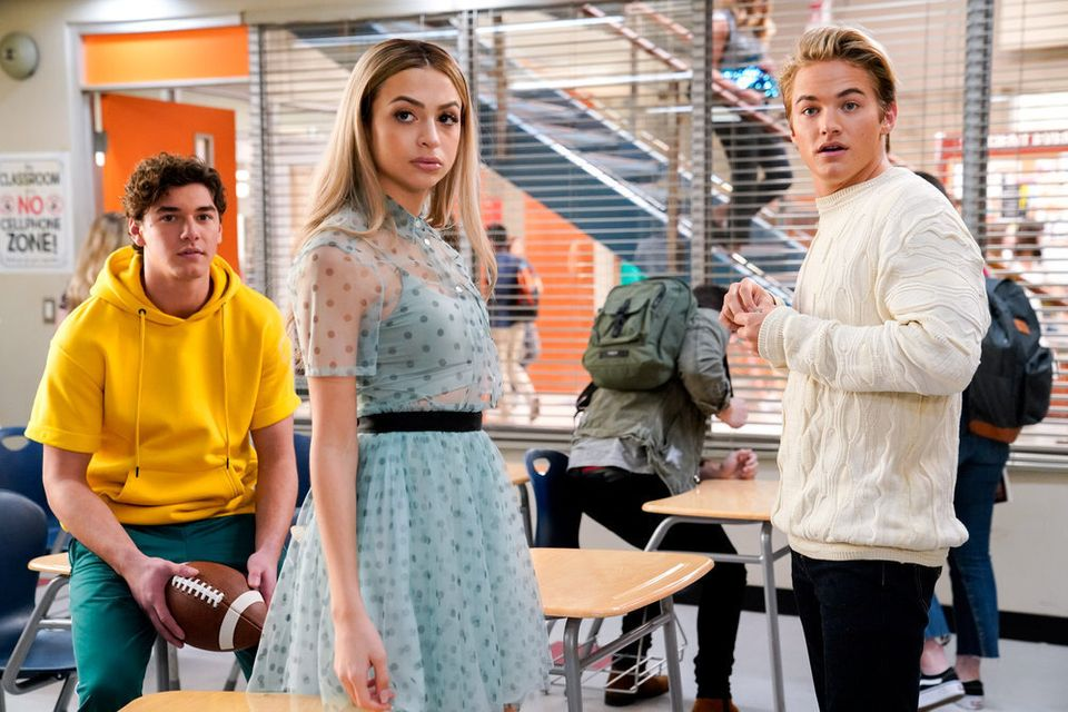 Josie Totah, centre, in Saved By The