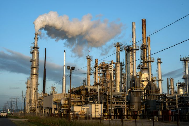 Smoke billows from one of many chemical plants in the Baton Rouge, Louisiana, area Oct. 12, 2013. Cancer Alley is one of the