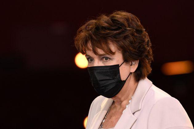 Roselyne Bachelot photographiée au Théatre Mogador à Paris le 1er février