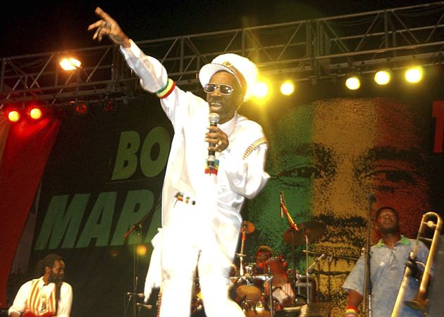 Bunny Wailer performing in 2005 at a tribute concert on what would have been Bob Marley's 60th