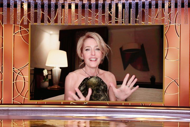 Gillian Anderson at Sunday night's Golden Globes.