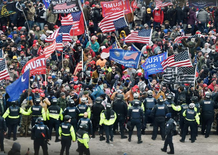 Following an incendiary speech by then-President Donald Trump on the National Mall, a mob of his supporters descended on the