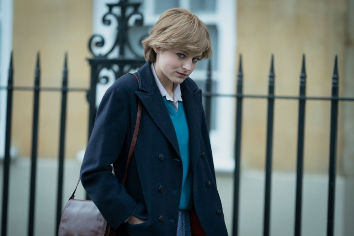 "Emma Corrin as Princess Diana in ""The Crown."""