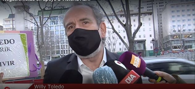 Willy Toledo, a su llegada a a