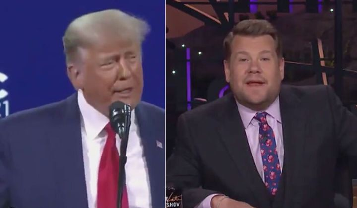 James Corden roasts Trump's CPAC speech on the 'The Late Late Show'.