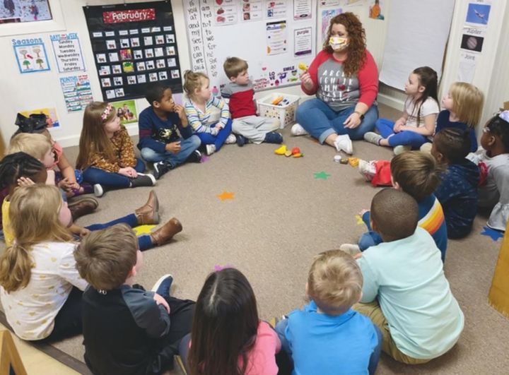 Children attend Funtime Preschool in Clinton, Mississippi.The coronavirus relief bill would send a signal that child ca