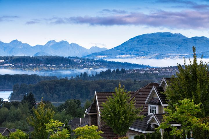 Houses in the Greater Vancouver city of Surrey, B.C.