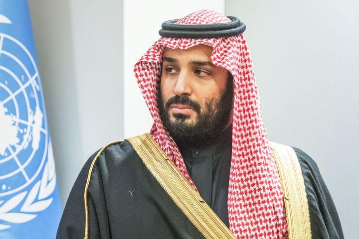 Saudi Crown Prince Mohammed bin Salman attends a bilateral meeting with the United Nations secretary-general at U.N. headquar