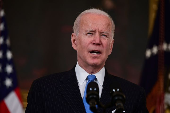 President Joe Biden delivers remarks Tuesday on the government's pandemic response, including the recently announced partners