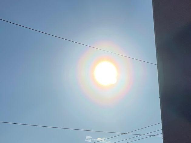 千葉県八街市より(3日(火)7時30分頃撮影)
