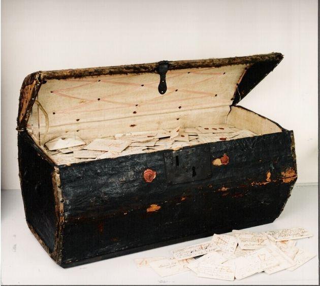 네덜란드 헤이그 우편박물관에 소장된 편지