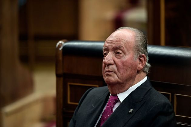 Juan Carlos I, en los actos del 40 aniversario de la Constitución en el Congreso, el 6 de diciembre de
