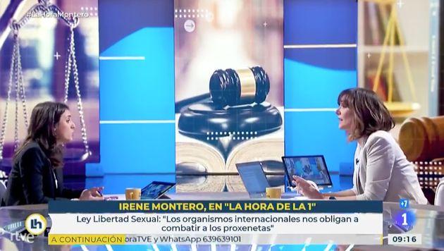 Irene Montero y Mónica López en La Hora de La