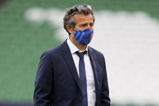 Fabien Galthié, ici en Irlande en février, n'est pas le patient 0 du XV de France selon...