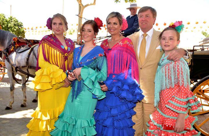 La familia real holandesa, en la Feria de Abril.