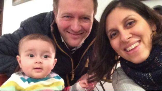 Nazanin Zaghari-Ratcliffe with husband Richard and Gabriella as a