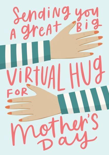 Sending you a great big virtual hug Mother's Day card, Thortful