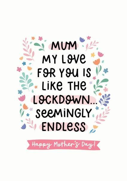 Lockdown Love Mother's Day Card Thortful