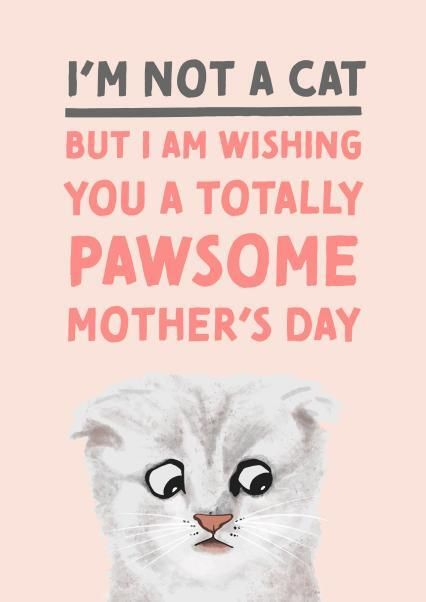 I'm Not A Card, Mother's Day Card, Thortful