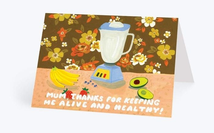 Keeping Me Alive and Healthy Mother's Day Card, Papier
