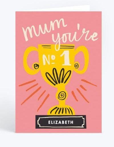 No. 1 Mum Award, Mother's Day Card, Papier