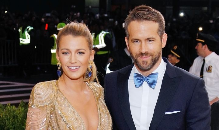 Blake Lively and Ryan Reynolds at the 2017 Met Gala on May 1, 2017.
