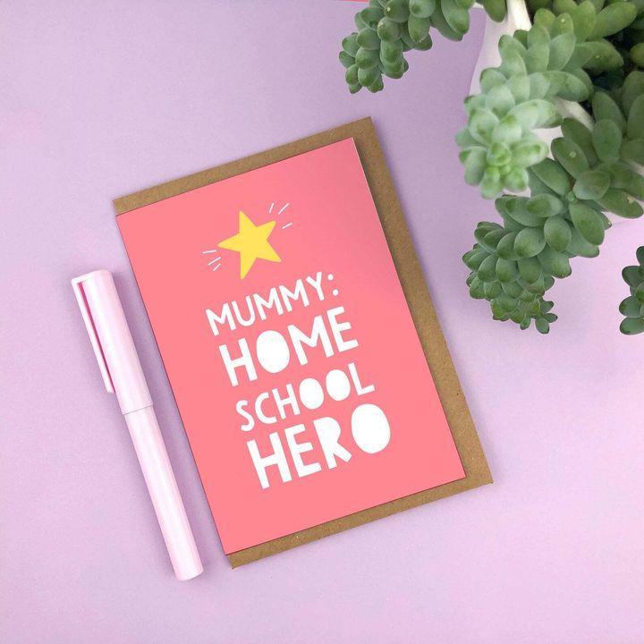 Home School Hero, Mother's Day, Etsy