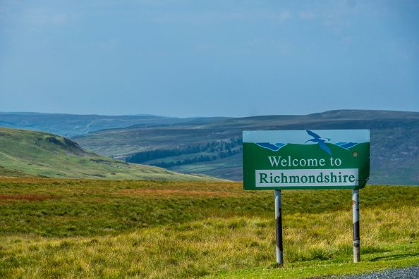 The Yorkshire border in the Richmondshire district