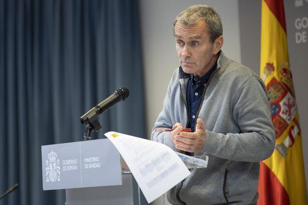 Fernando Simón en una rueda de prensa en el Ministerio de