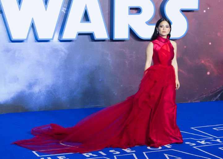 """Kelly Marie Tran attends """"Star Wars: The Rise of Skywalker"""" European Premiere at Cineworld Leicester Square on December"""