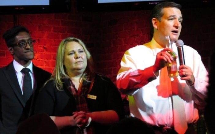 Ali Alexander, Blog Bash co-organizer Melissa Clouthier and Ted Cruz at Blog Bash in 2013.