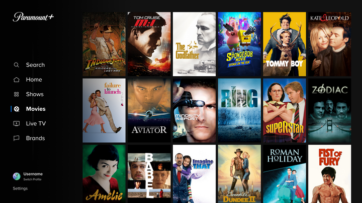 The films on Paramount+ draw on new releases and a deep vault.