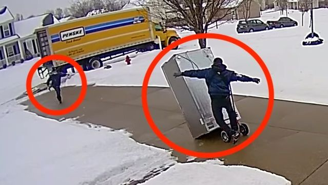 WHOOPS!: Attempt To Deliver A New, $4,200 Fridge Goes Wrong In A Hurry.jpg