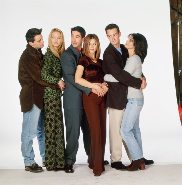 The cast of Friends pictured during the show's