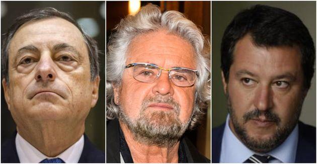 Draghi-Grillo-Salvini, il