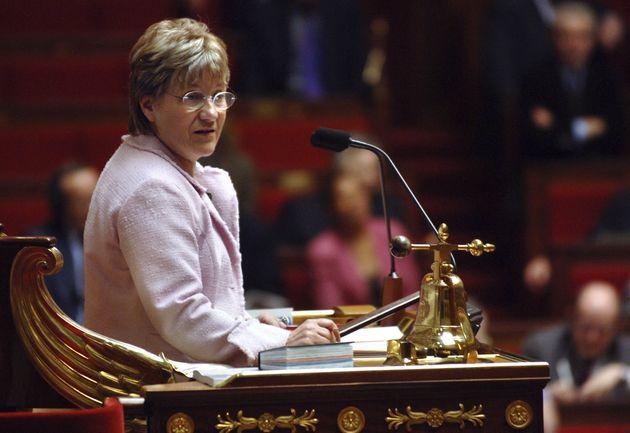 L'ancien vice-présidente de l'Assemblée Paulette Guinchard-Kunstler, présidant la...