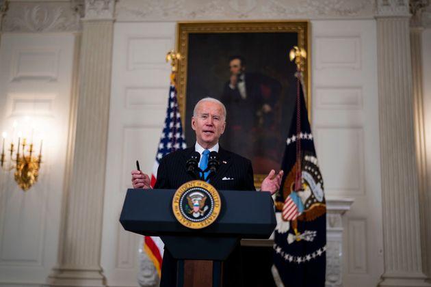 El presidente de Estados Unidos, Joe Biden, en una rueda de prensa en la Casa